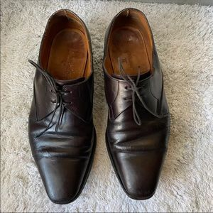 John Lobb Brown Leather Shoe. Made In Italy Sz 7.5